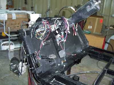 i designed the hanging brake pedal system to replace the original  floormounted golf-car based